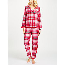 Buy Cyberjammies Erin Check Pyjama Set, Red Online at johnlewis.com