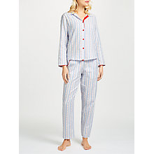Buy Cyberjammies Wren Dobby Stripe Pyjama Set, Pale Blue Online at johnlewis.com