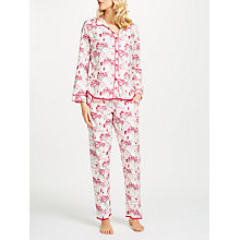Buy Cyberjammies Erin Floral Print Pyjama Set, White/Red Online at johnlewis.com