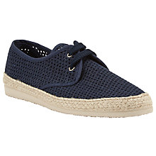 Buy Kin by John Lewis Woven Lace Up Espadrilles, Navy Online at johnlewis.com