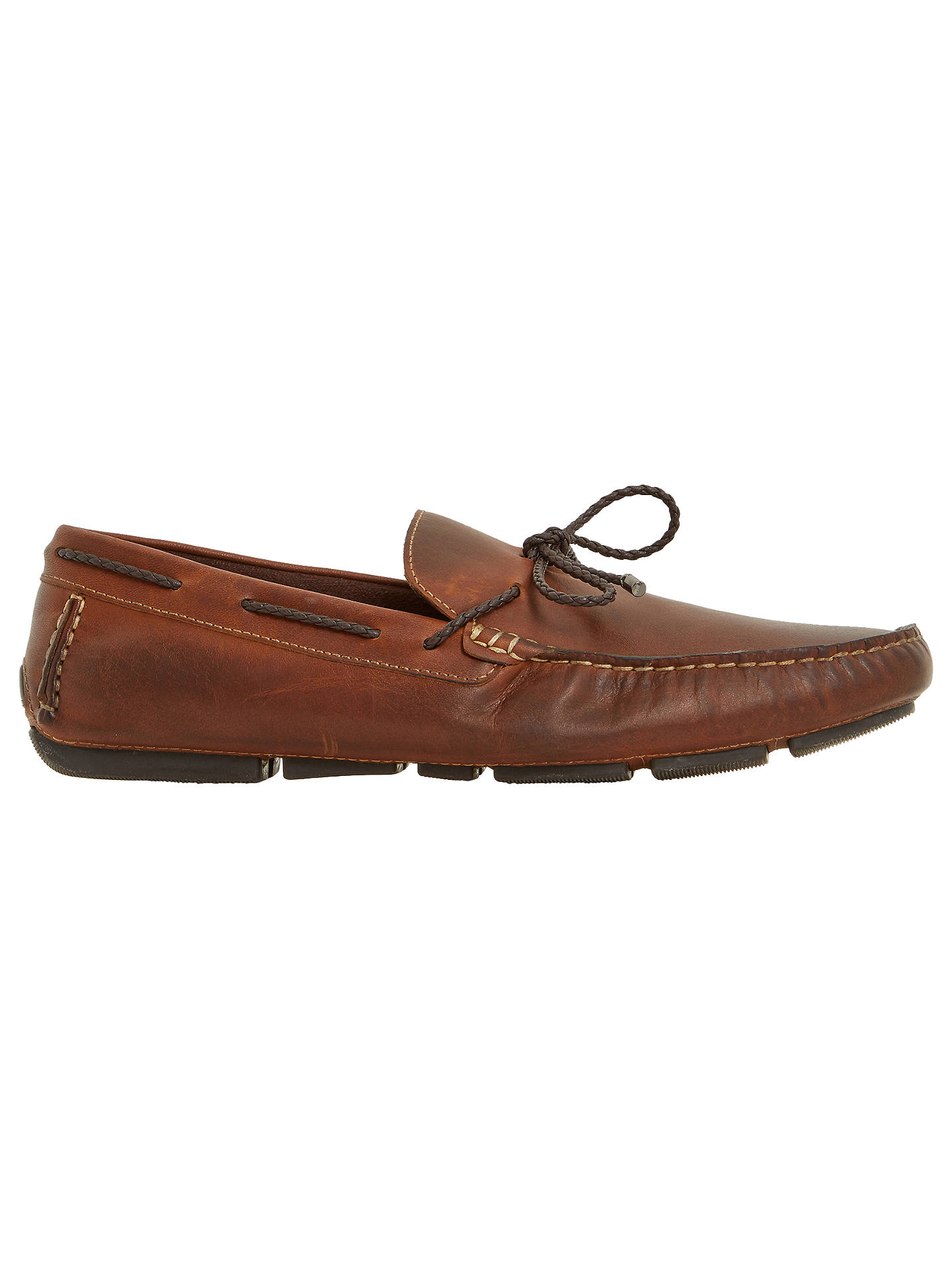 9d8a8f20884 Dune Barnacle Leather Driving Loafers, Leather at John Lewis & Partners
