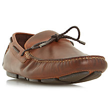 Buy Dune Barnacle Leather Driving Loafers, Leather Online at johnlewis.com