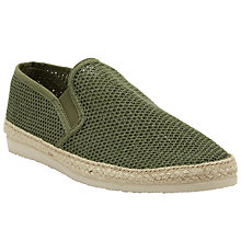 Buy Kin by John Lewis Woven Slip-On Espadrilles, Khaki Online at johnlewis.com