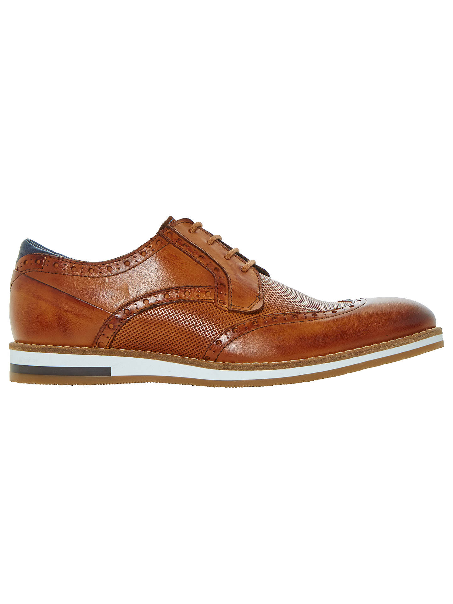 Buy Bertie Baker Hill Gibson Leather Wingtip Shoes, Tan Leather, 9 Online at johnlewis.com
