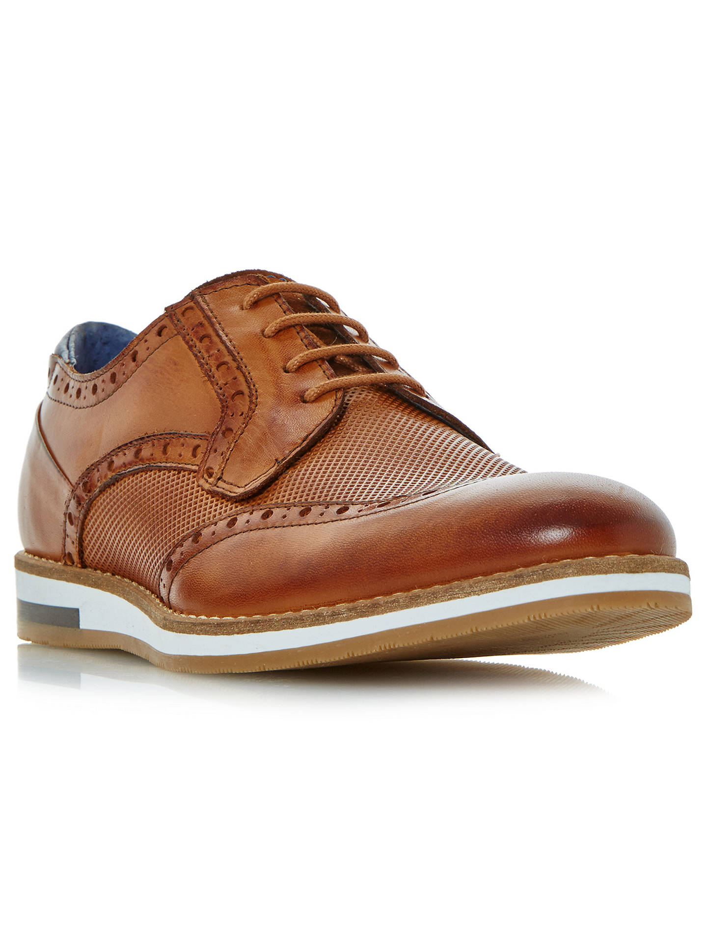 Buy Bertie Baker Hill Gibson Leather Wingtip Shoes, Tan Leather, 10 Online at johnlewis.com