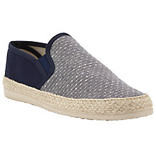 Buy Kin by John Lewis 2 Tone Espadrilles, Navy Online at johnlewis.com