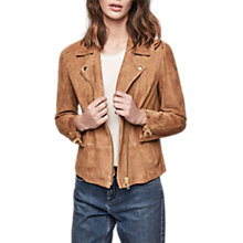 Buy Gerard Darel Leather Valmont Jacket, Coffee Online at johnlewis.com