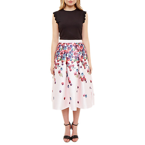 Buy Ted Baker Expressive Pansy Josy Skirt, Baby Pink Online at johnlewis.com