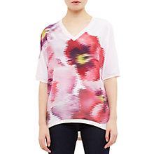 Buy Ted Baker Expressive Pansy Samsie Woven Jumper, Baby Pink Online at johnlewis.com