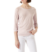 Buy Jigsaw Linen Raglan Sleeve Top, Frosted Rose Online at johnlewis.com