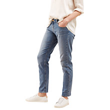 Buy Jigsaw Hampton Supersoft Jeans, Pale Blue Online at johnlewis.com