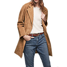 Buy Gerard Darel Vito Suede Coat, Camel Online at johnlewis.com