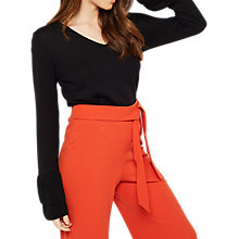 Buy Miss Selfridge Cuff Sleeve Jumper, Black Online at johnlewis.com