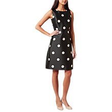 Buy Hobbs Shannon Dress, Black/Camelia Pink Online at johnlewis.com