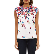 Buy Ted Baker Expressive Pansy Imee Pleated Top, Baby Pink Online at johnlewis.com