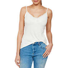 Buy Mint Velvet Jersey Lace Camisole, Cream Online at johnlewis.com