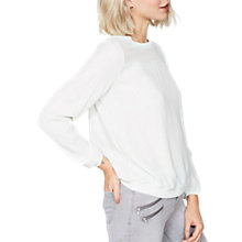 Buy Mint Velvet Knitted Trim Blouson Top, Mint Online at johnlewis.com