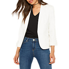 Buy Miss Selfridge Ponte Notch Jacket, Ivory Cream Online at johnlewis.com
