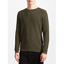 Buy Kin by John Lewis Circle Texture Jumper, Khaki Online at johnlewis.com