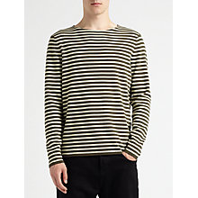 Buy Kin by John Lewis Breton Stripe Jumper, Khaki Online at johnlewis.com