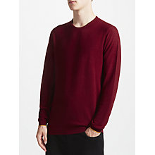 Buy Kin by John Lewis Tipped Merino Jumper, Deep Claret Online at johnlewis.com