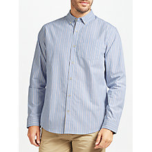 Buy John Lewis End on End Stripe Shirt, Blue Online at johnlewis.com