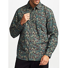 Buy John Lewis Flower Print Shirt, Green Online at johnlewis.com