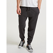 Buy John Lewis Cashmere Joggers, Charcoal Online at johnlewis.com