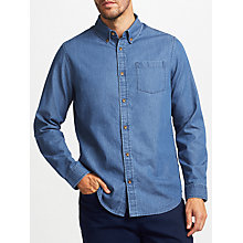 Buy John Lewis Smarter Denim Shirt, Blue Online at johnlewis.com