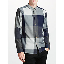 Buy Kin by John Lewis Oversized Check Shirt, Navy Online at johnlewis.com