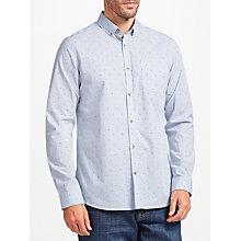 Buy John Lewis Dobby End on End Weave Shirt, Blue Online at johnlewis.com