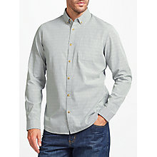 Buy John Lewis Dobby Stripe Shirt, Green Online at johnlewis.com