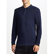 Buy Kin by John Lewis Merino Pique Long Sleeve Polo Online at johnlewis.com