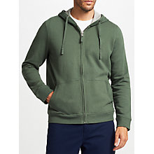 Buy John Lewis Cotton Pigment Dyed Hoodie, Green Online at johnlewis.com