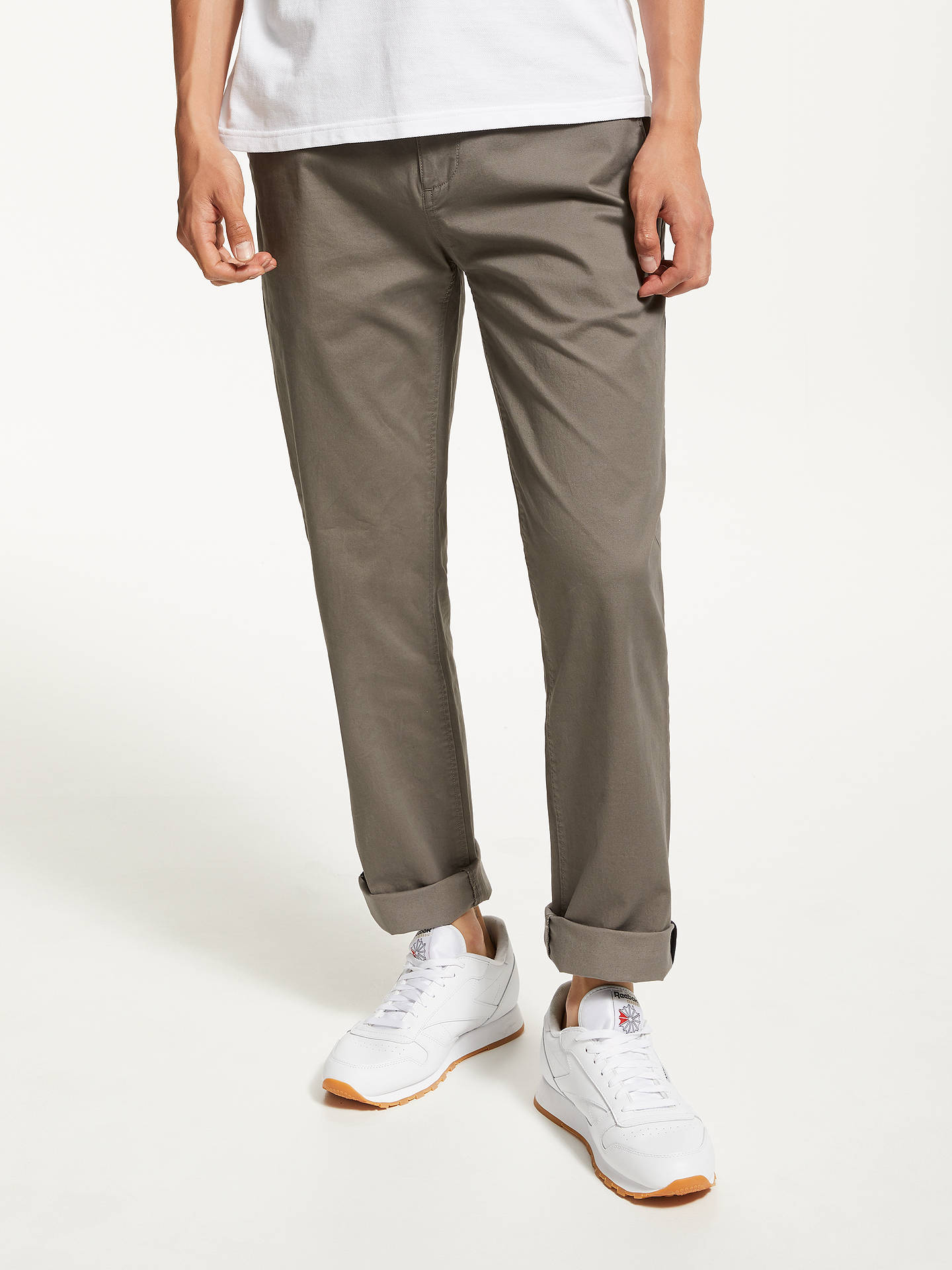 89071ce88a002 Buy Kin Stretch Cotton Chinos, Grey, 32S Online at johnlewis.com ...