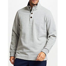 Buy John Lewis Weekend Button Neck Sweatshirt, Grey Marl Online at johnlewis.com