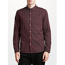 Buy Kin by John Lewis Dobby Check Shirt, Red Online at johnlewis.com