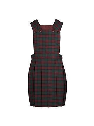 School Girls' Tunic Dress, Tartan