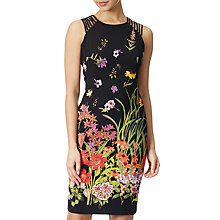 Buy Adrianna Papell Plus Size Strapped Shoulder Dress, Black/Multi Online at johnlewis.com