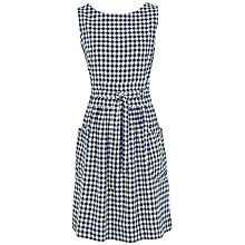 Buy Fat Face Angie Gingham Dress, Navy Online at johnlewis.com