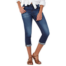 Buy Fat Face Blue Sky Straight Leg Cropped Jeans, Denim Online at johnlewis.com