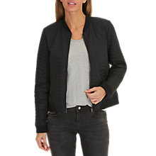 Buy Betty & Co. Quilted Bomber Jacket, Black Online at johnlewis.com