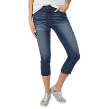 Buy Fat Face Denim Straight Leg Cropped Jeans, Blue Online at johnlewis.com
