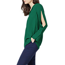 Buy Warehouse Split Sleeve Pyjama Top, Green Online at johnlewis.com