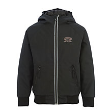 Buy Animal Boys' Jakobe Hooded Jacket, Black Online at johnlewis.com