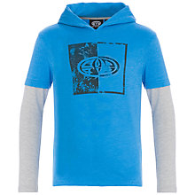 Buy Animal Boys' Long Sleeve Hooded Graphic T-Shirt, Blue Online at johnlewis.com