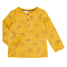 Buy John Lewis Baby Artroom All-Over Dino Print Jumper, Yellow Online at johnlewis.com