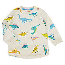 Buy John Lewis Baby Artroom All-Over Dino Print Jumper, Multi Online at johnlewis.com