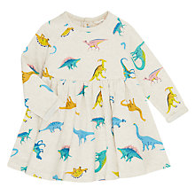 Buy John Lewis Baby Artroom Dino All-Over Print Dress, Multi Online at johnlewis.com