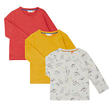 Buy John Lewis Baby Artroom Jersey T-Shirt, Pack of 3, Multi Online at johnlewis.com